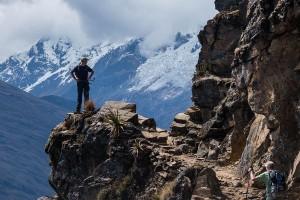 hiker en route from choquequirao to machu picchu - Amazonas Explorer