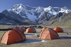 tents on the Ausangate Trek, Cusco , Peru