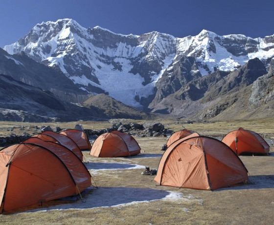 tents on the Ausangate Trek, Cusco , Peru
