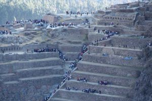 Ollantaytambo is a busy point on a sacred valley tour