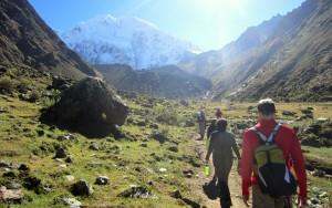 hikers on the Salkantay Trek to Machu Picchu