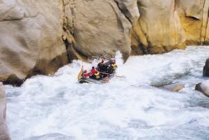 Raft on Rio Apurimac, Cusco, Peru