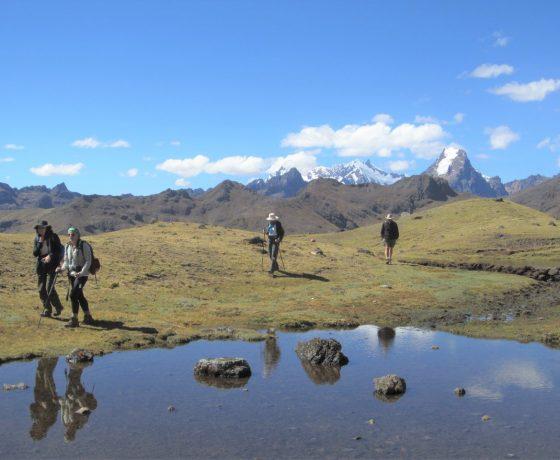 Hikers on the Lares Trek, Cusco, Peru