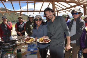 cooking class, Lake Huayo; Peru