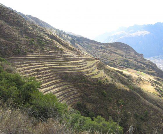 terraces on Huchuy Qosqo Trek