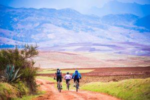 Mountain Biking the road to Machu Picchu.