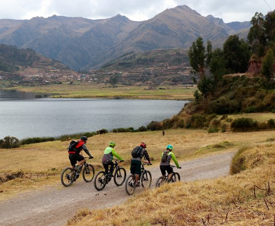 ebiking in Peru, near Chinchero, Cusco
