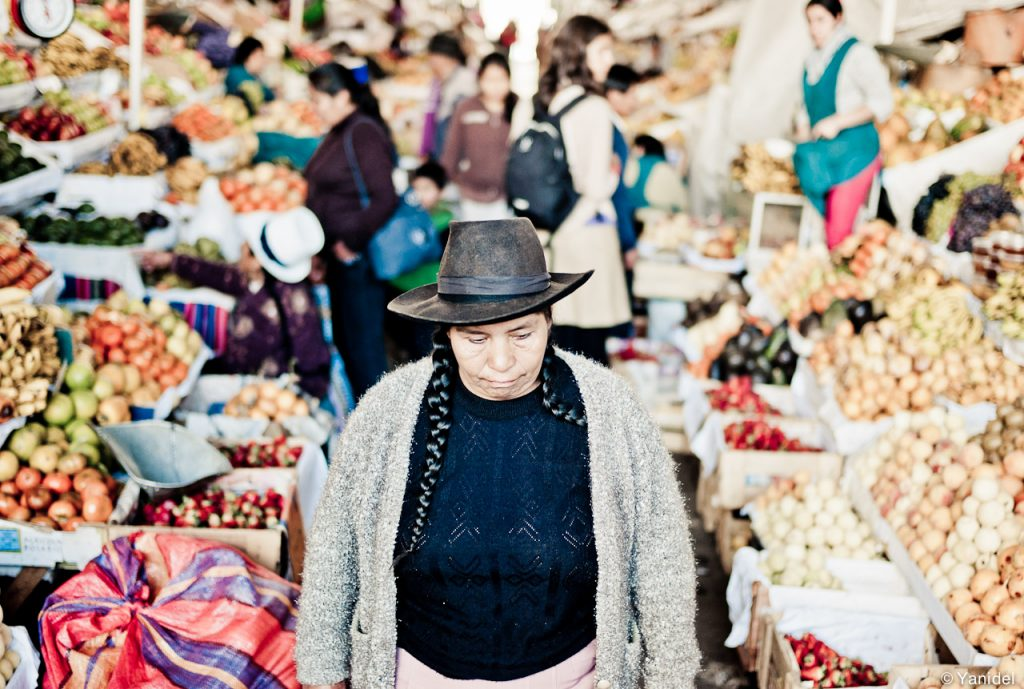 shopping in a cusco market