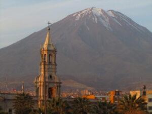 Arequipas Mountainous Background