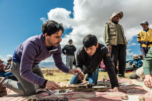 helping out in peru