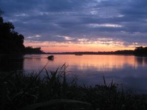 Amazon Sunset on the Tambopata River