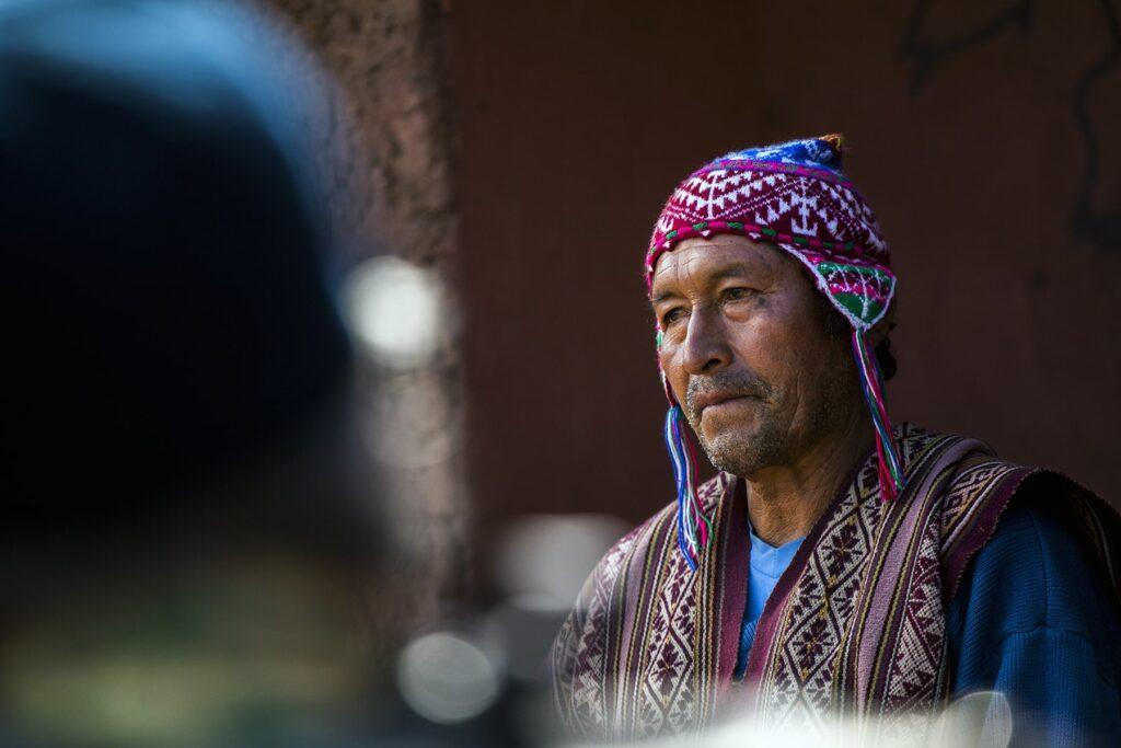 peruvian man discussing sustainability