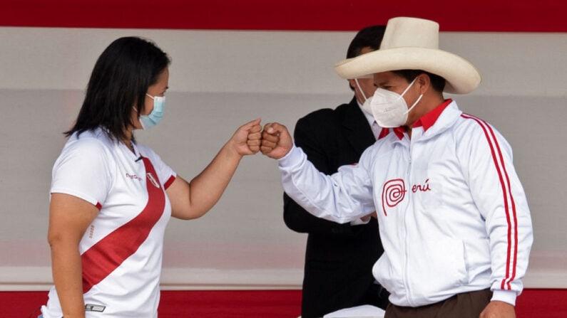 keiko & castillo peruvian election candidates